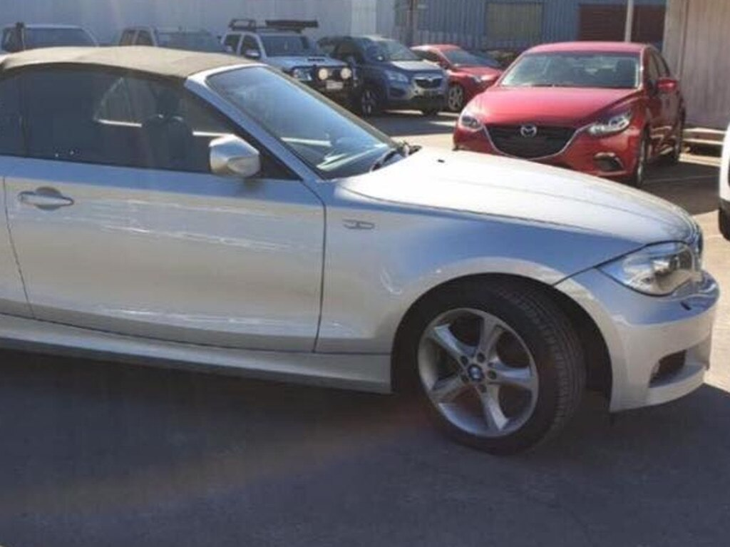 One of the 15 vehicles stolen from a car dealership south of Brisbane.