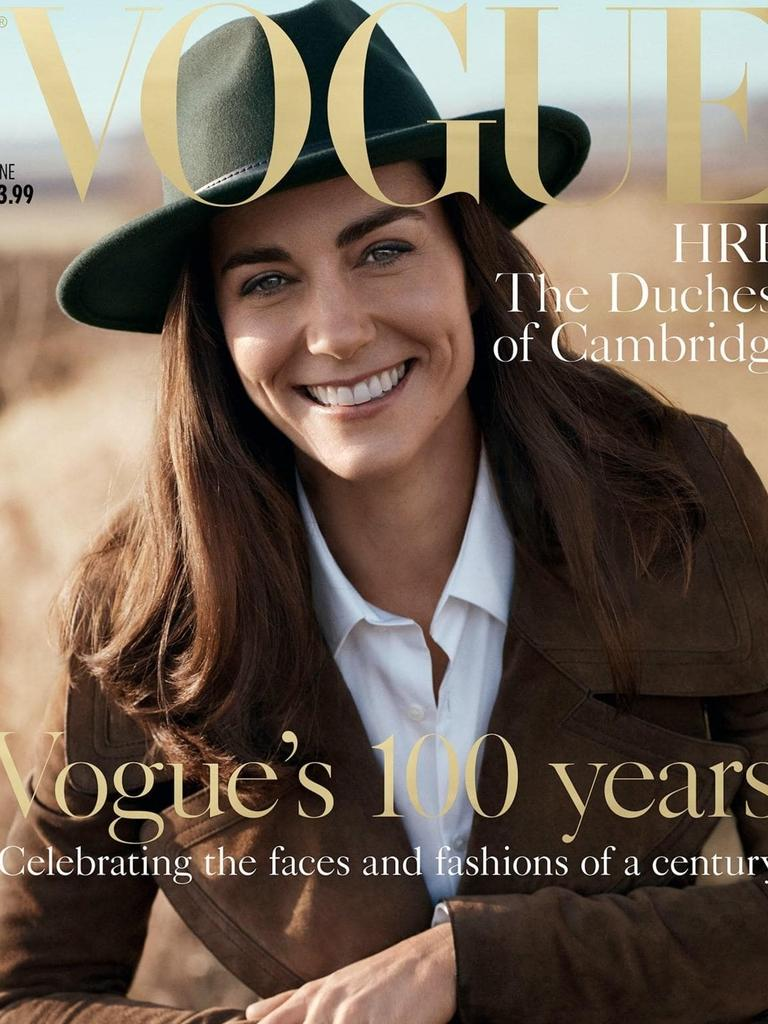 The Duchess of Cambridge's Vogue cover. Picture: Vogue