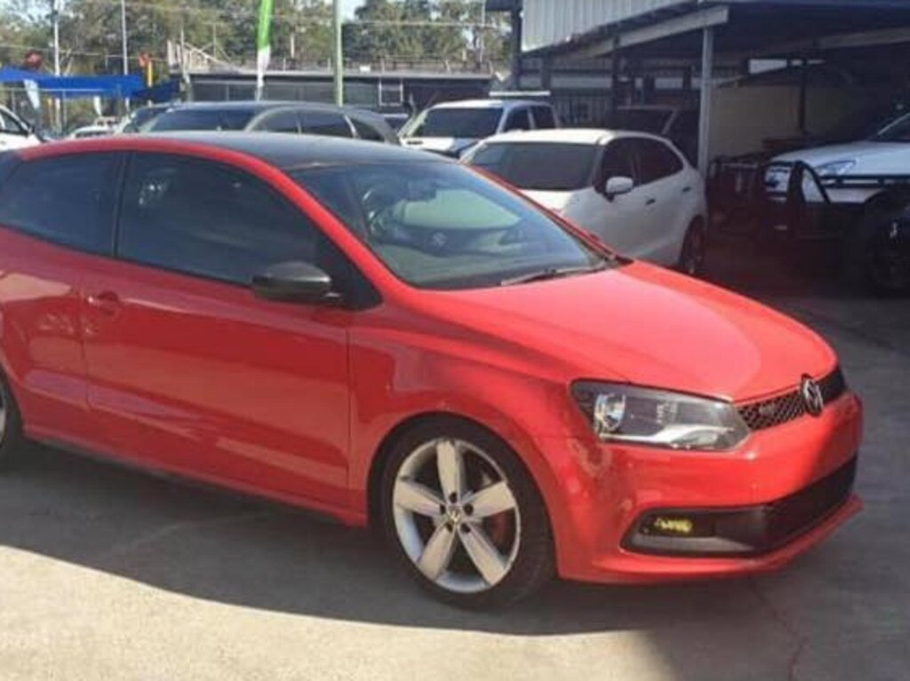 The red VW Golf was among those stolen on Monday.