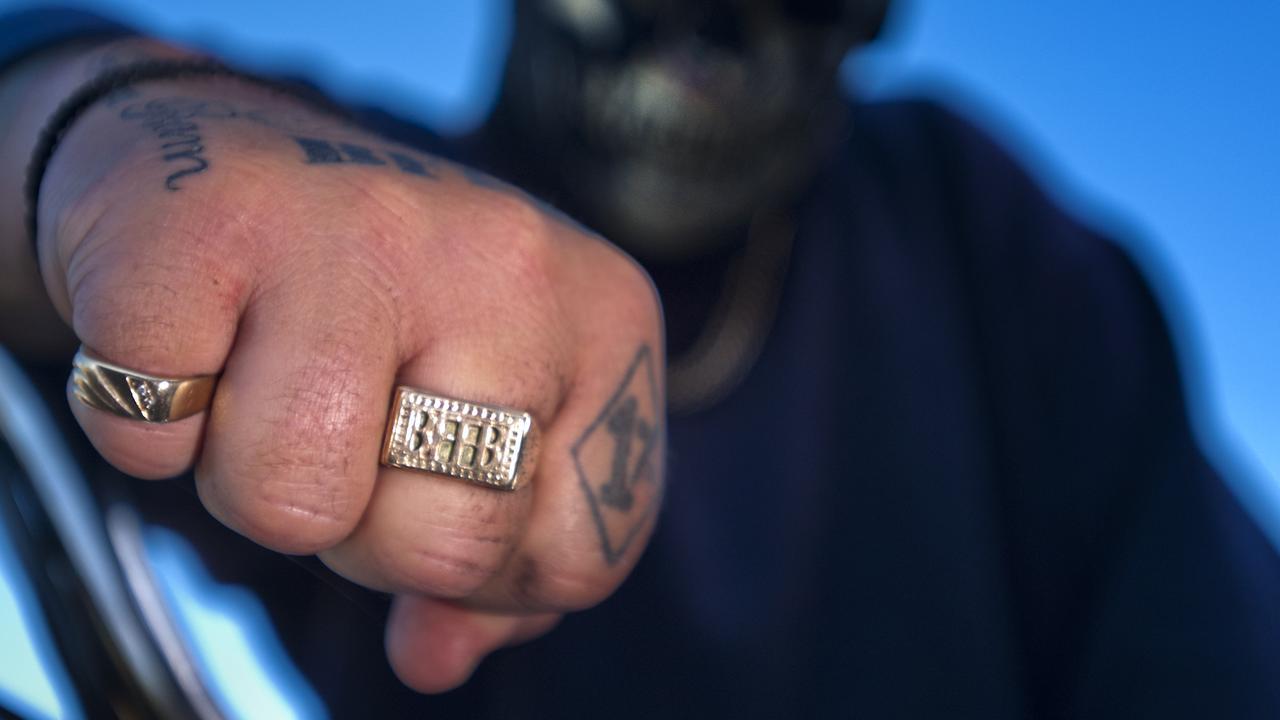Photo: Generic image of an Australian outlaw bikie gang member.