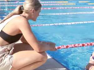 Nasty abuse on banned swim star's video