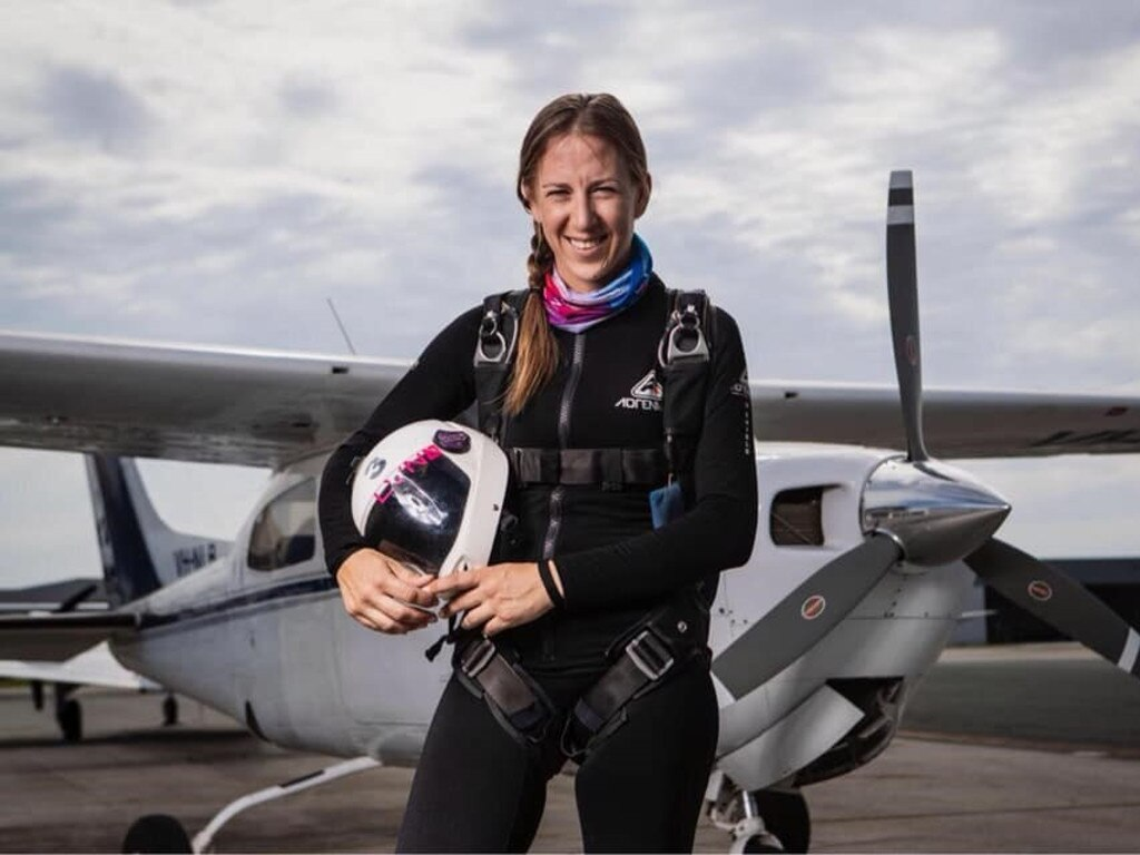 UK BOUND: Coffs Harbour's Jessica Johnston is representing Australia at the Speed Skydiving World Cup in the United Kingdom on August 12-15.