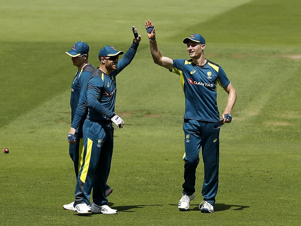 Cameron Bancroft (right) is ready to return. (Photo by Ryan Pierse/Getty Images)