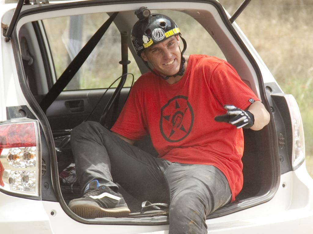 BMX rider Dane Searls pictured on one of his many adventures.