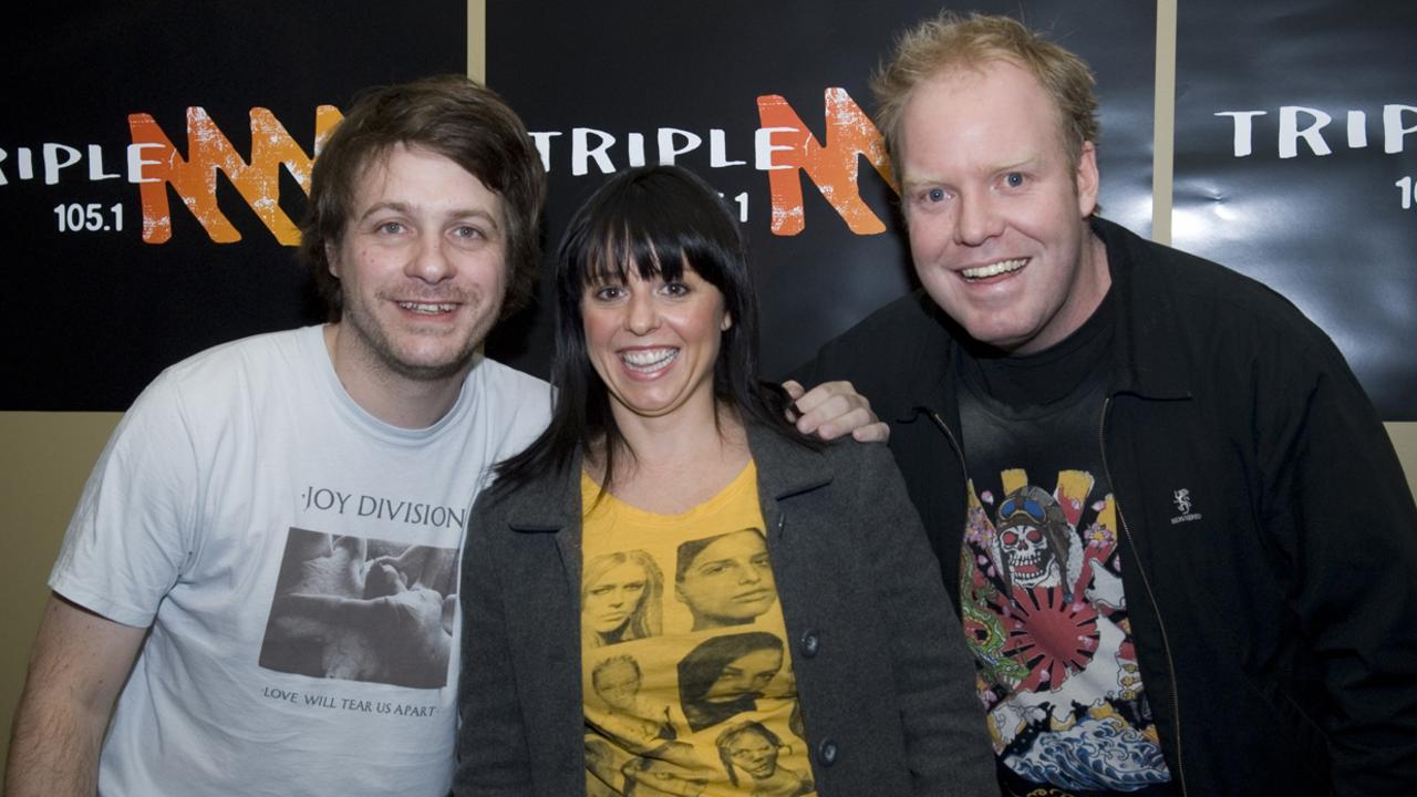 Richard Marsland, Myf Warhurst And Peter Helliar hosted Triple M's Melbourne breakfast show together.