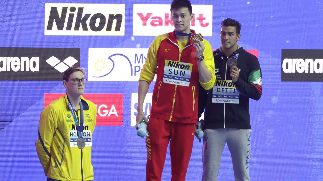 Coach Denis Cotterell refused to comment on his swimmer Sun Yang.