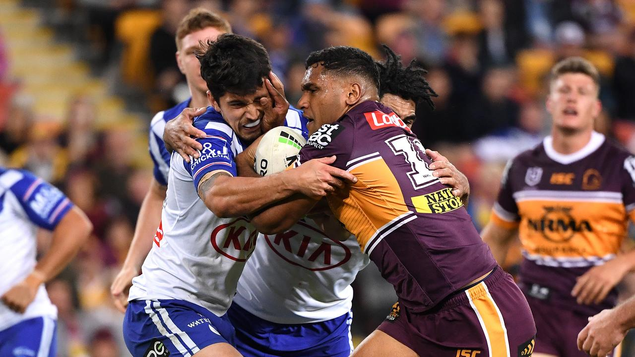 Tevita Pangai Jnr will miss the huge clash with Melbourne due to suspension. Picture: Dave Hunt