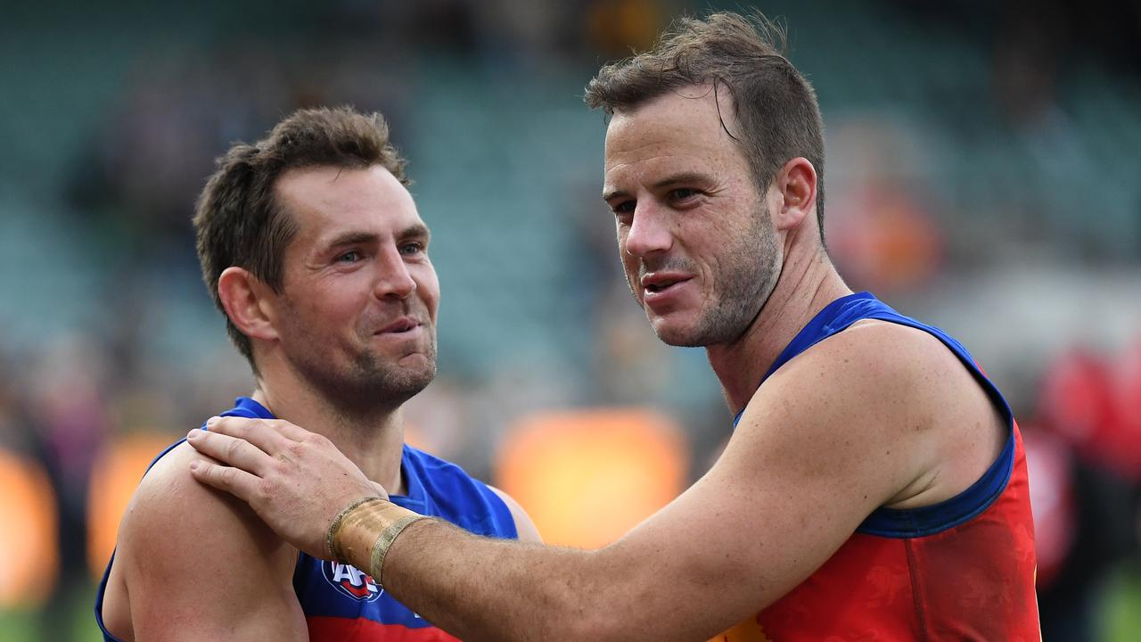 It's happy times at the Lions. Pic: AAP