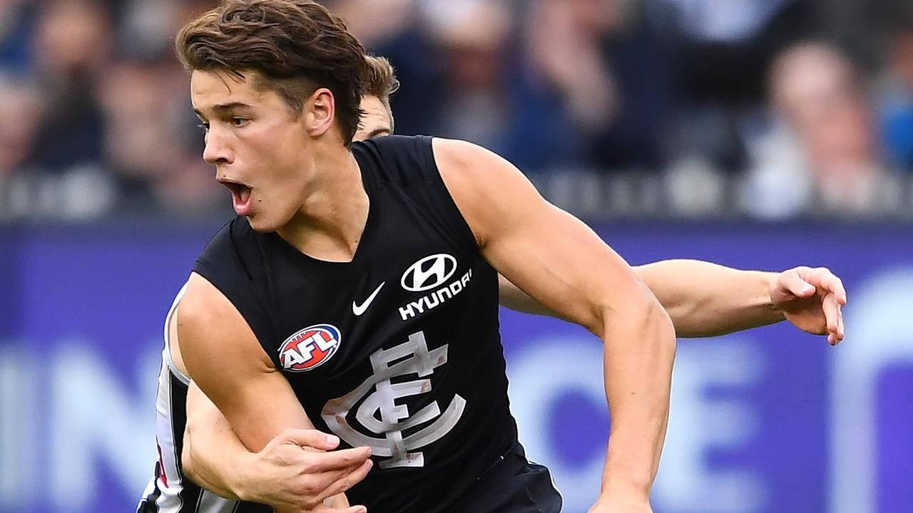 Liam Stocker has given Carlton supporters a taste of his mouthwatering potential. Picture: Getty Images