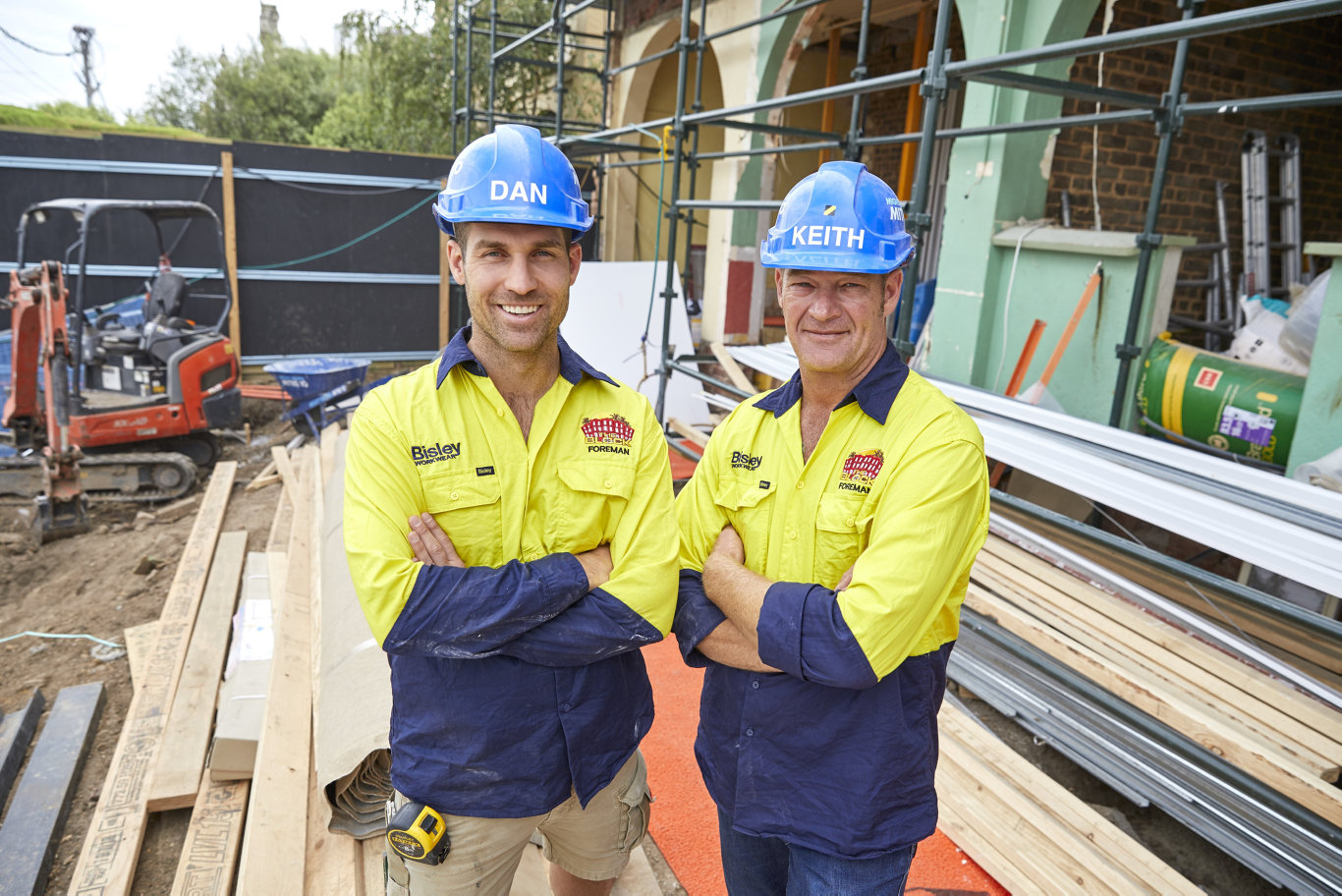 The Block's site foremen Dan Reilly and Keith Schleiger have their work cut out for them this year at The Oslo in St Kilda.