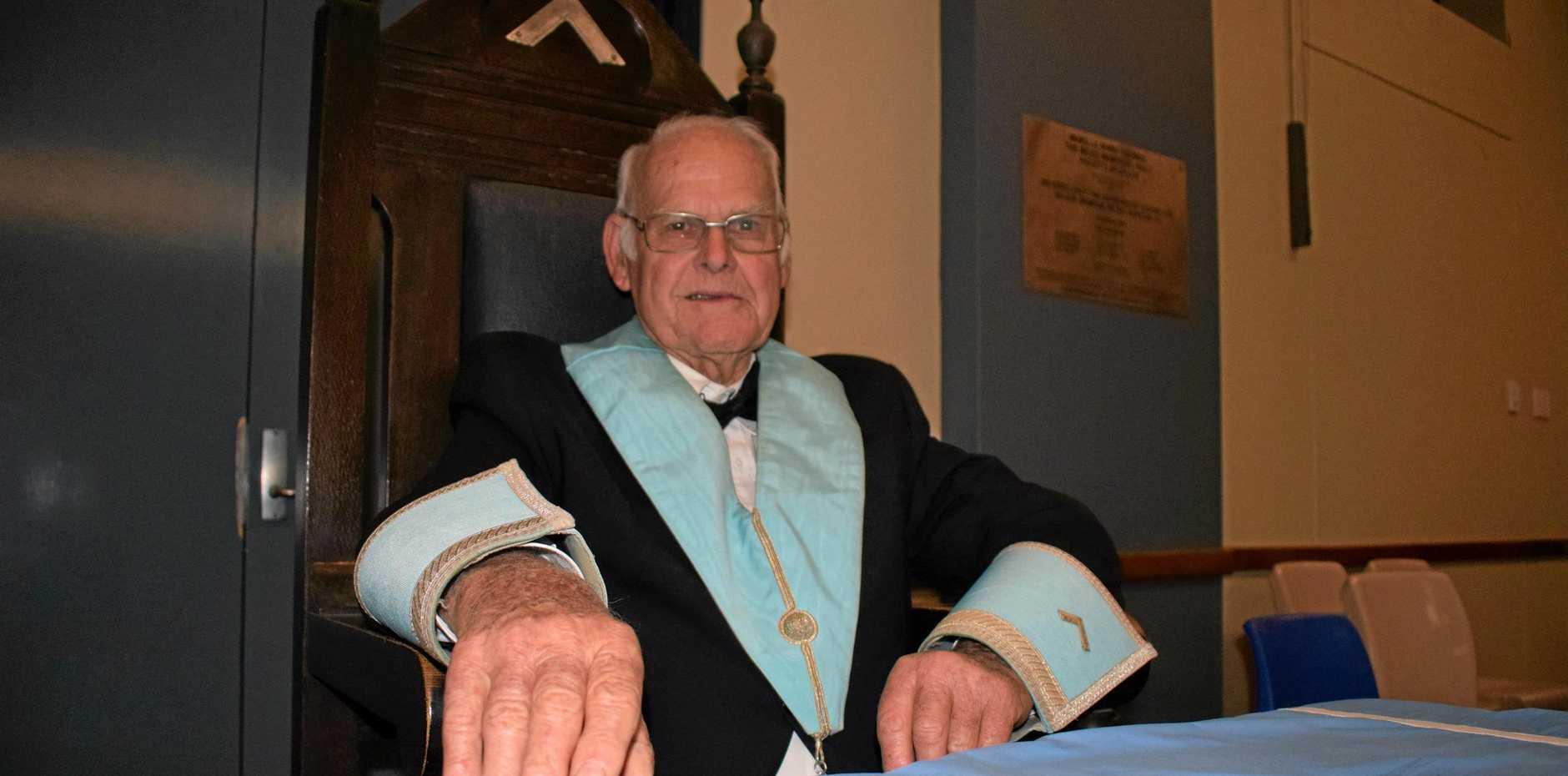 MURILLA MASTER: Ben Rees at the Murilla Masonic Lodge'S 100th Birthday celebrations.