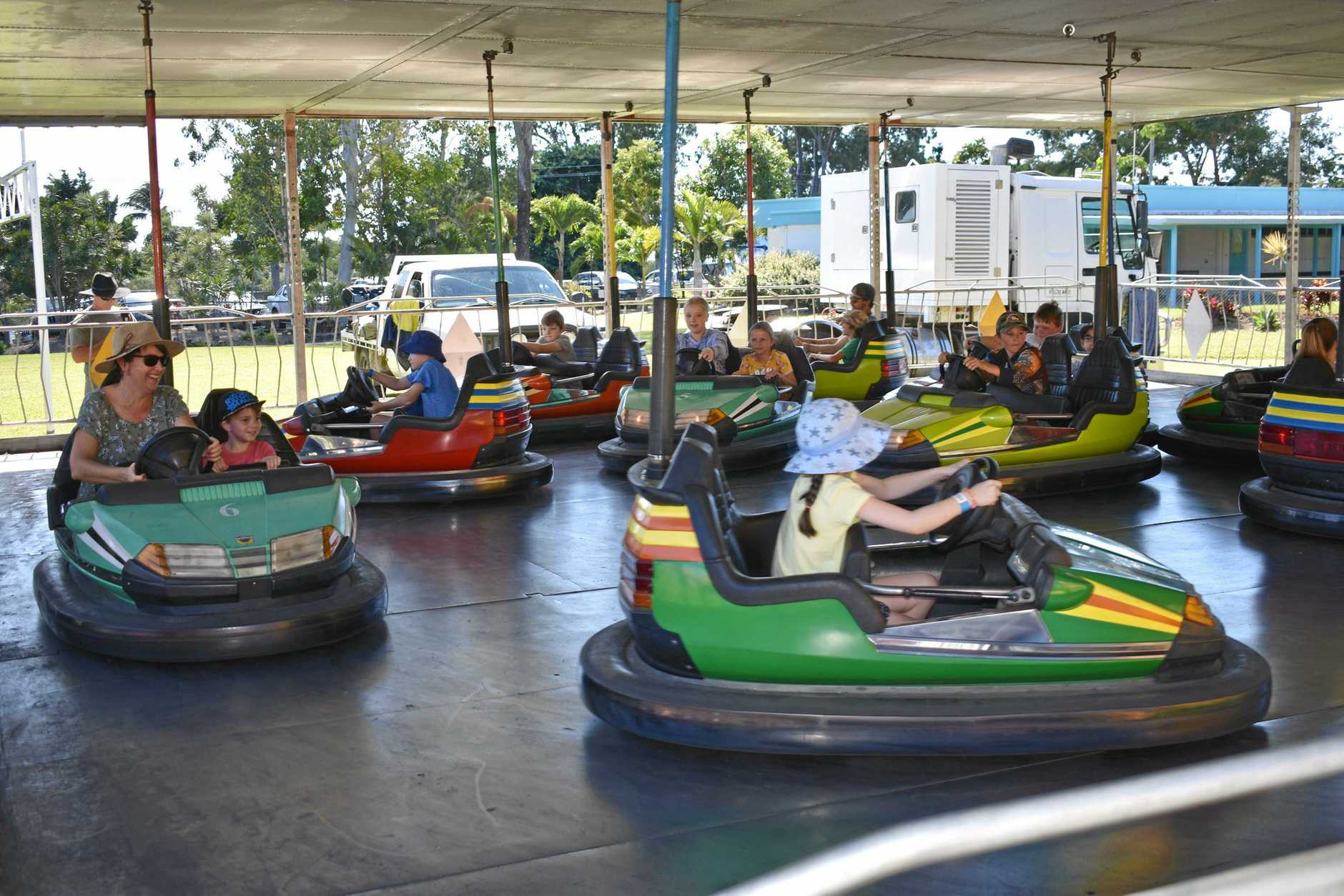 The dodgem cars proved popular at the Cannonvale State School Fete.
