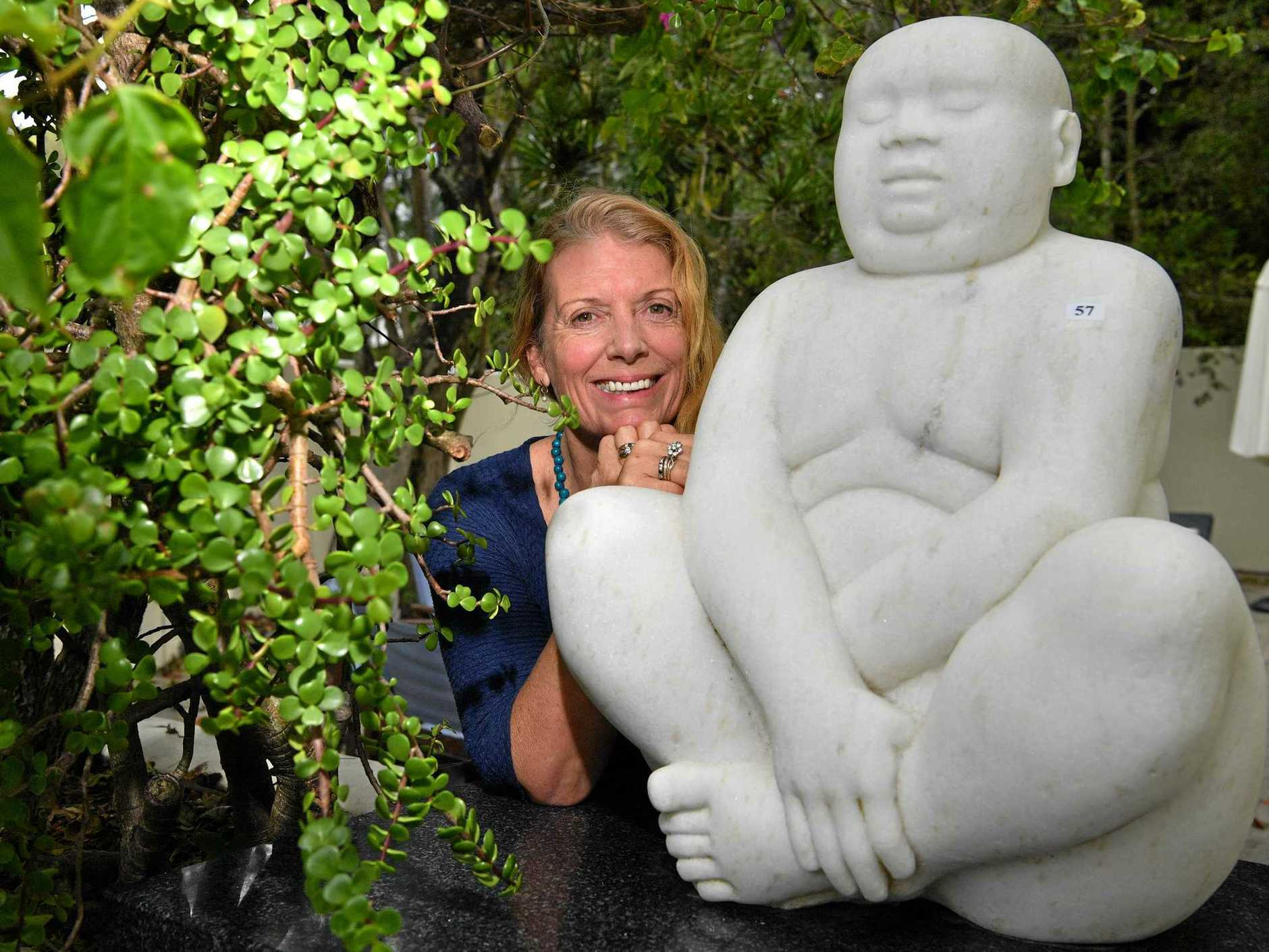 GOING ONCE: Sunshine Beach couple Angela (pictured) and David Wright have sold their mansion, and are now waiting for its 400 collectors items to be sold by auction.