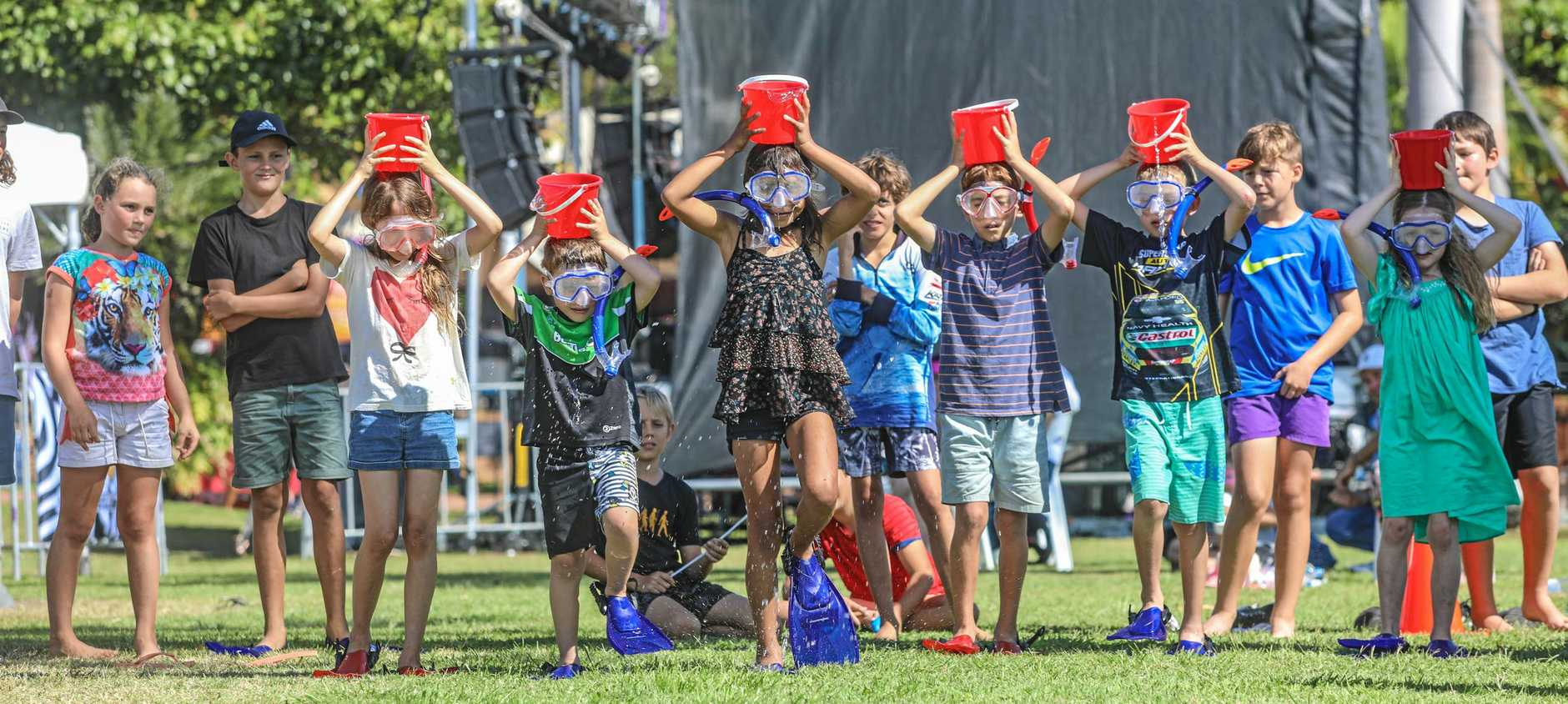 GREAT FUN: There's an environmental reef-themed aspect to many of the Whitsunday Transit Family Fun Day games.