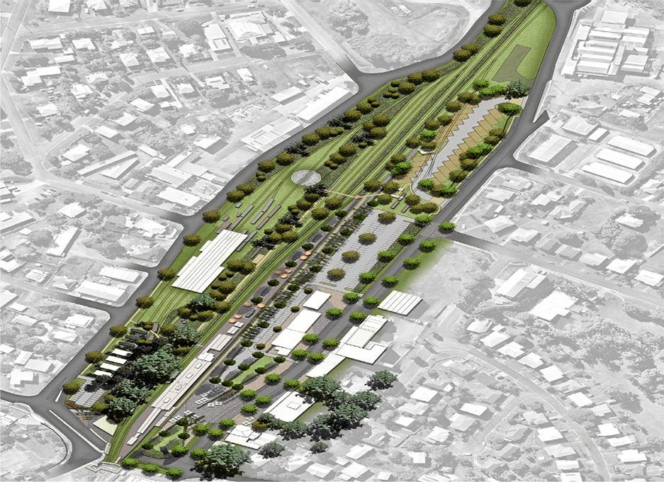Image of what the Mary Valley Rattler precinct could become.