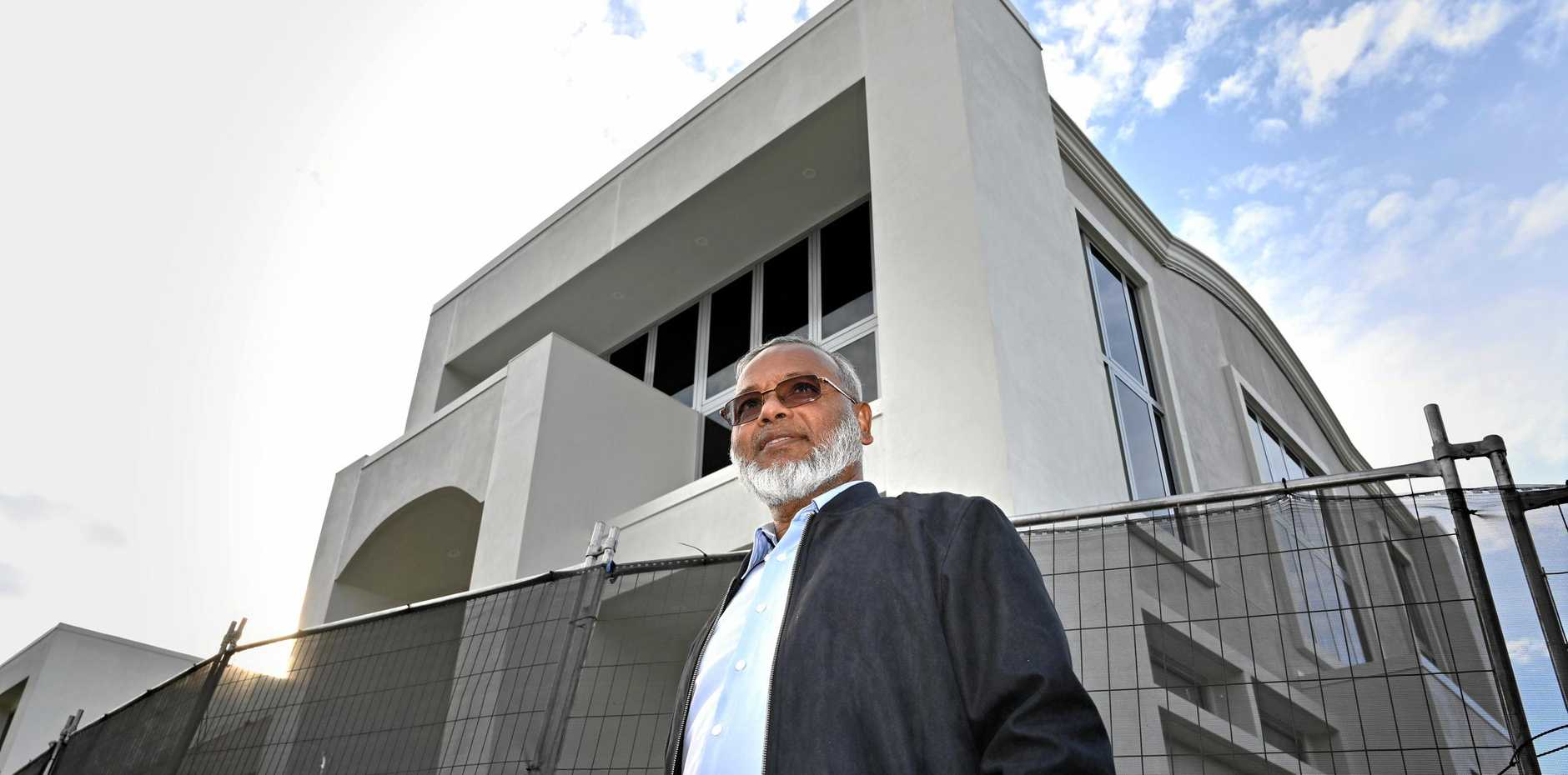 NEW LOOK: Professor Shahjahan Khan says he's pleased to see the completion of the exterior part of the new Garden City Mosque, something he says is a community effort.