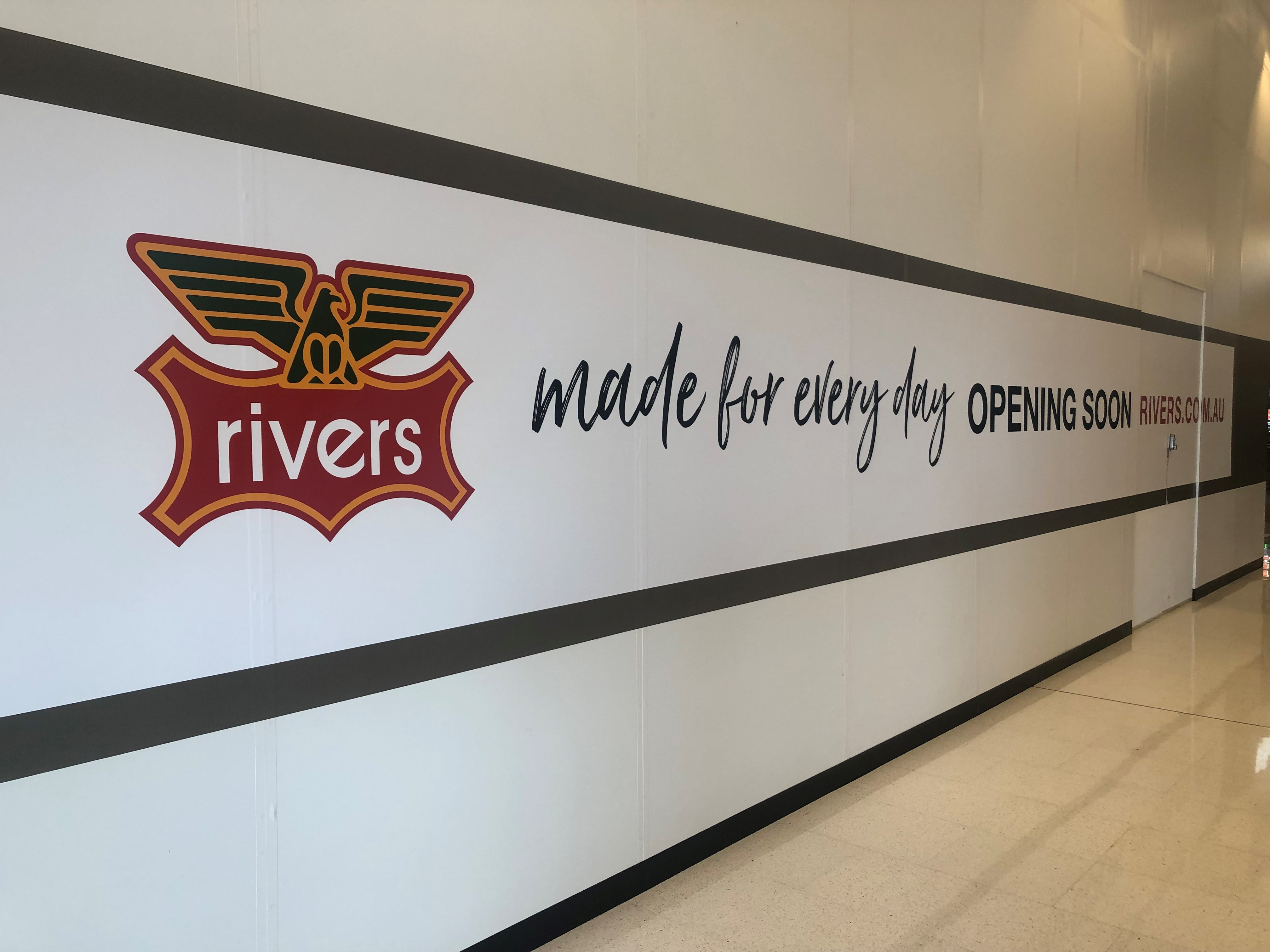 New signage for Rivers at Grand Central.