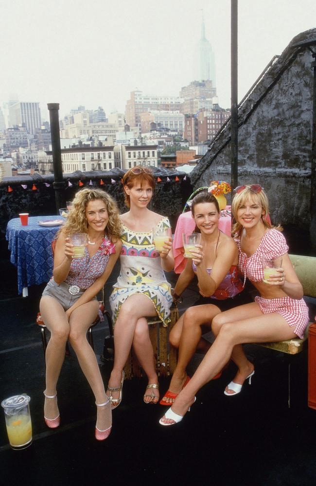 The SATC girls. Sarah Jessica Parker, Cynthia Nixon, Kristin Davis and Kim Cattrall.