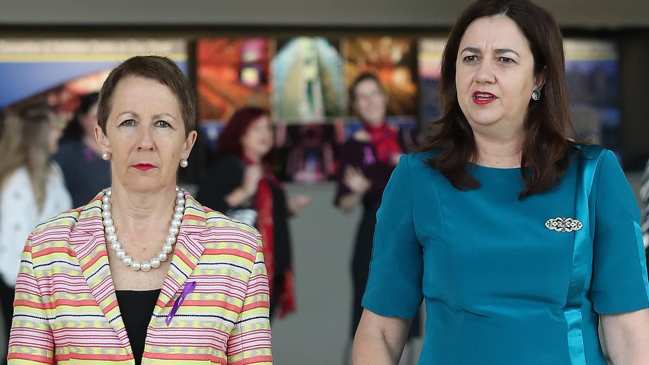 Minister for Woman Di Farmer and Queensland Premier Annastacia Palaszczuk. Photographer: Liam Kidston