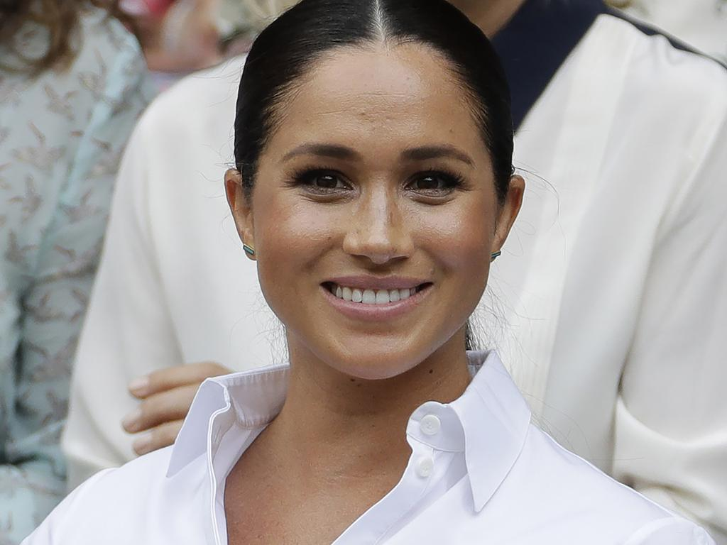 Meghanhas come out of maternity leave for select events, including Wimbledon, the Lion King Premier and editing British Vogue. Picture: AP Photo/Ben Curtis, File.
