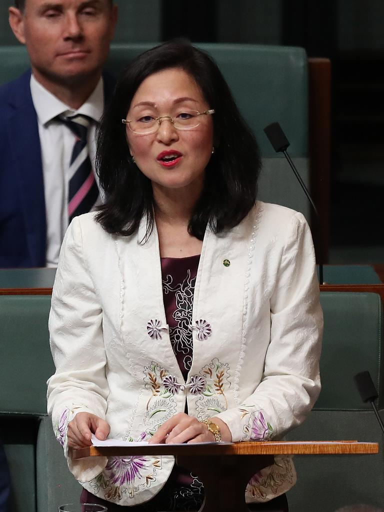 Rookie Liberal MP Gladys Liu... Picture: Kym Smith