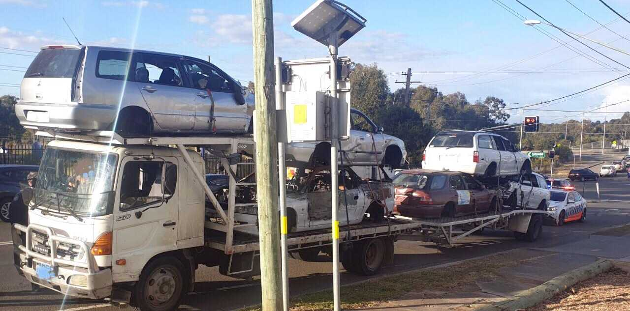 The driver was fined $3788 for several different issues relating to work diary, vehicle registration and not being licenced to drive a tow truck.