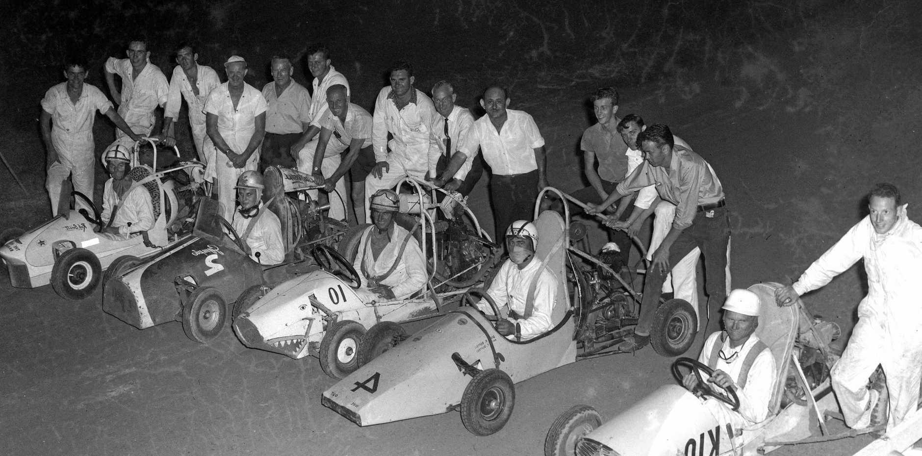 Gnat car racing at the showgrounds, Nambour, December, 1963.