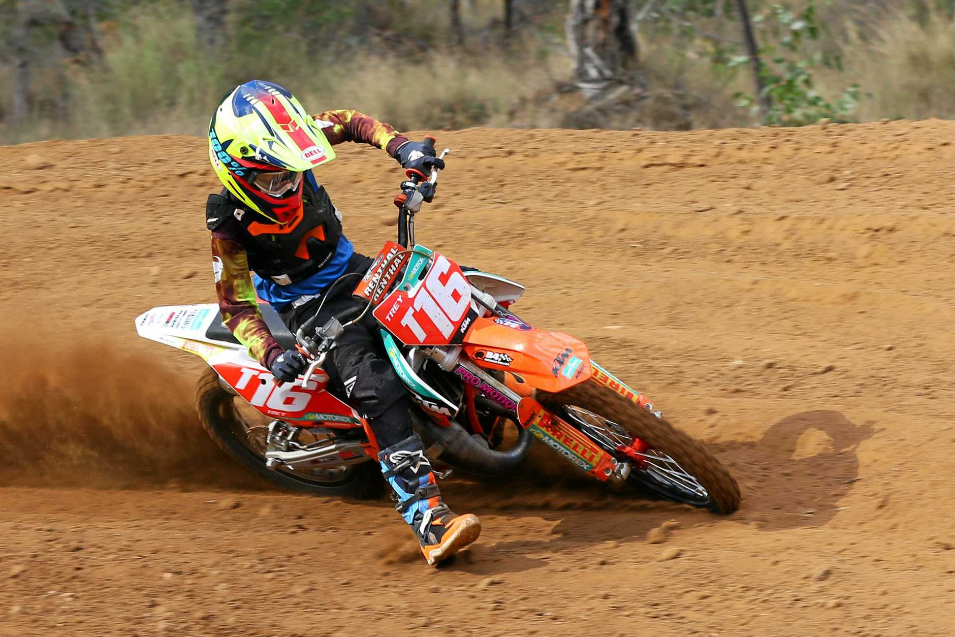 Warwick rider Trey Williams shows his style in motocross this season.