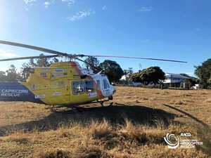Man airlifted after cattle yard injury