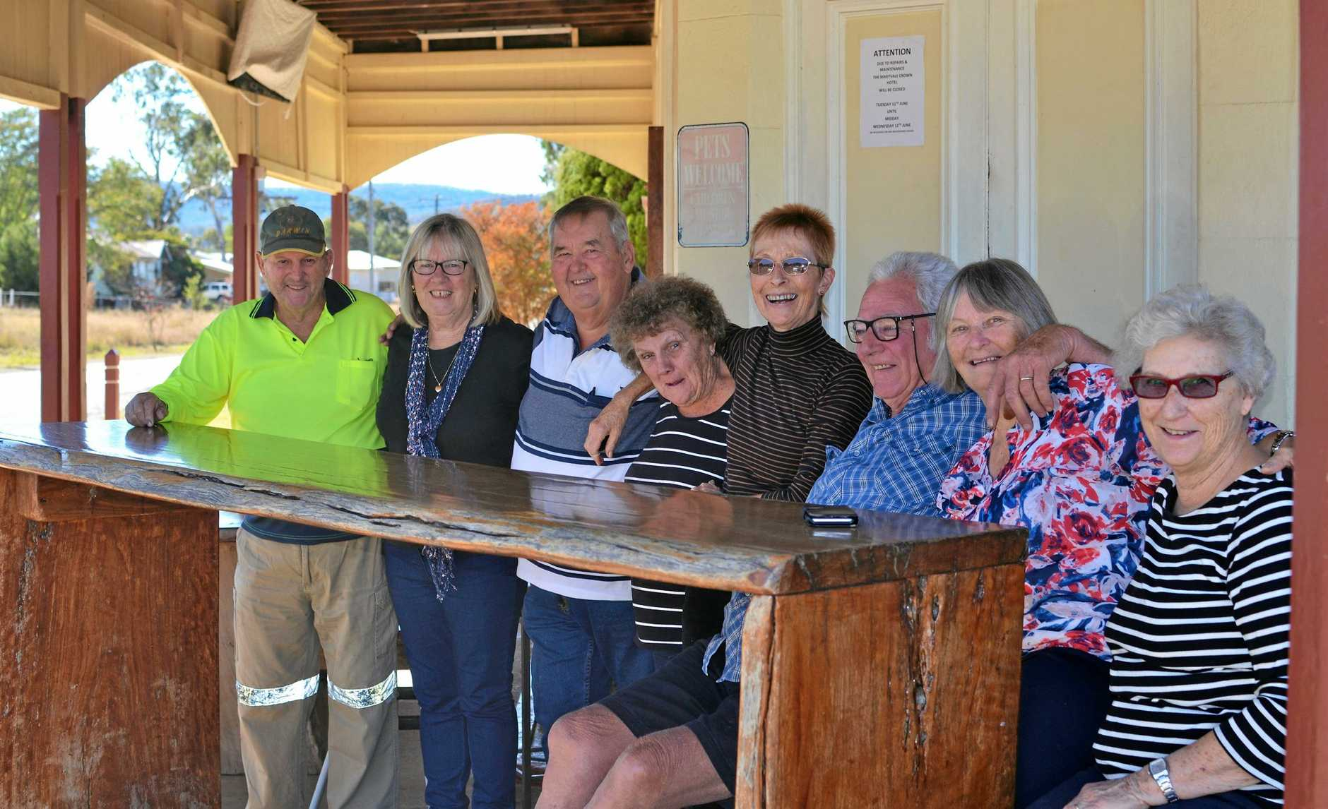 IT'S FINALLY HAPPENING: Members of the Maryvale Progress Association (from left) Lawrence Curnow, Colleen Cowley, Bob Cullen, Lyn Curnow, Barbara Dukeson, Bob Reade, Marj McKenzie and Laura Wozencroft are excited to see their ideas come to fruition.