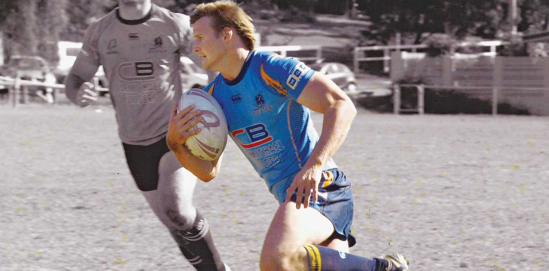 CLASS: Scott Ellis on the attack for Brisbane Norths, a club for which he played Queensland Cup.