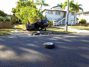 Man detained after rolling car in Wandal