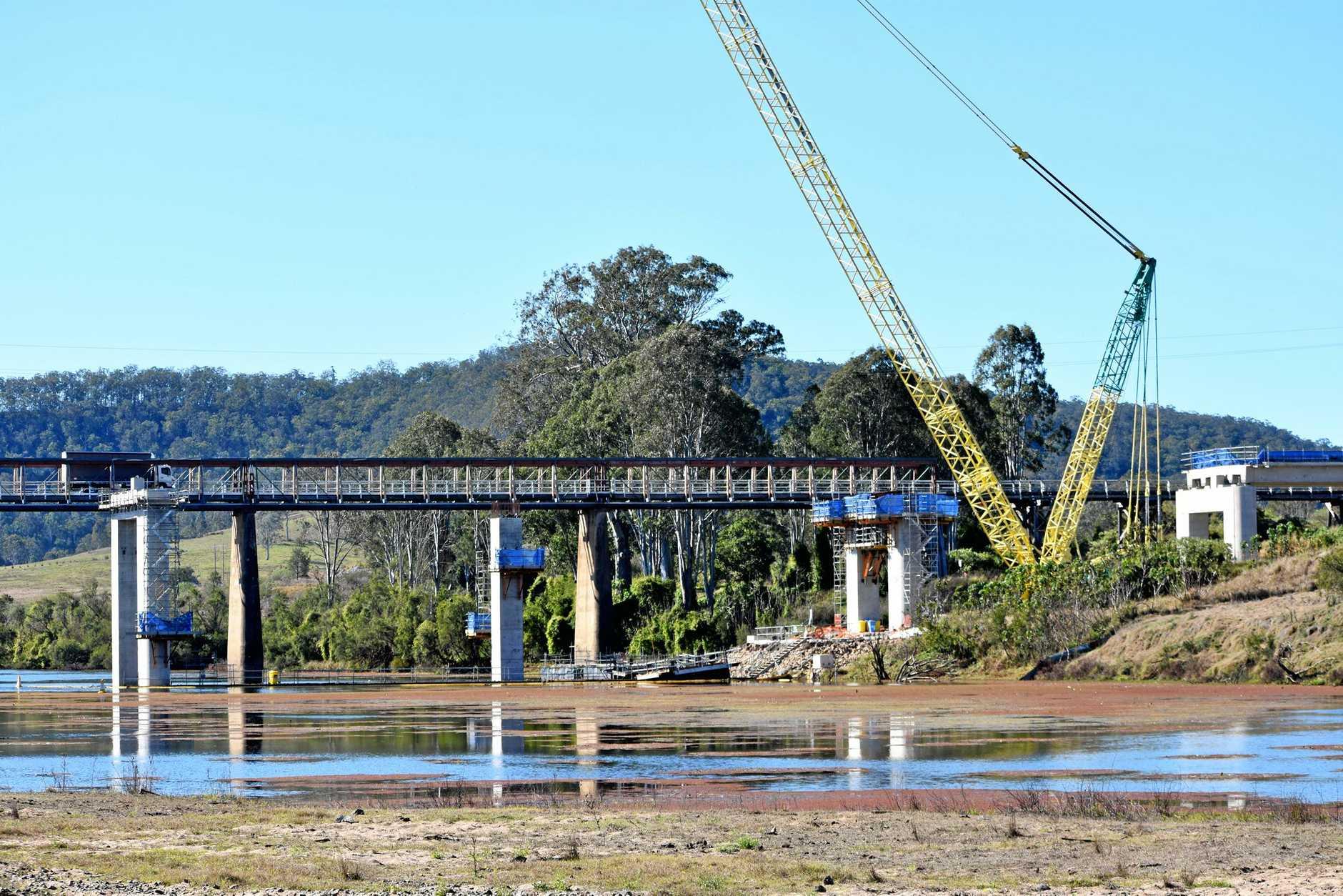Bridge work at Tabulam.