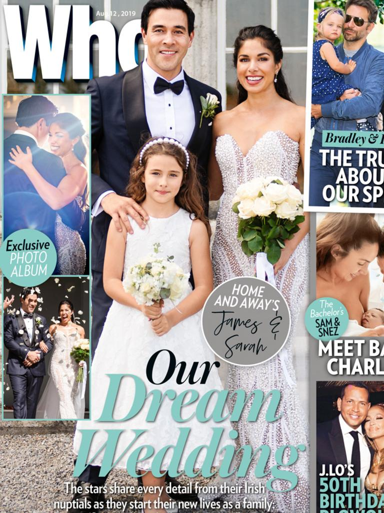 The couple appear on the cover of the latest issue of Who, on sale now.