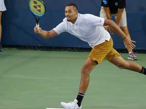Kyrgios snubs umpire after near implosion
