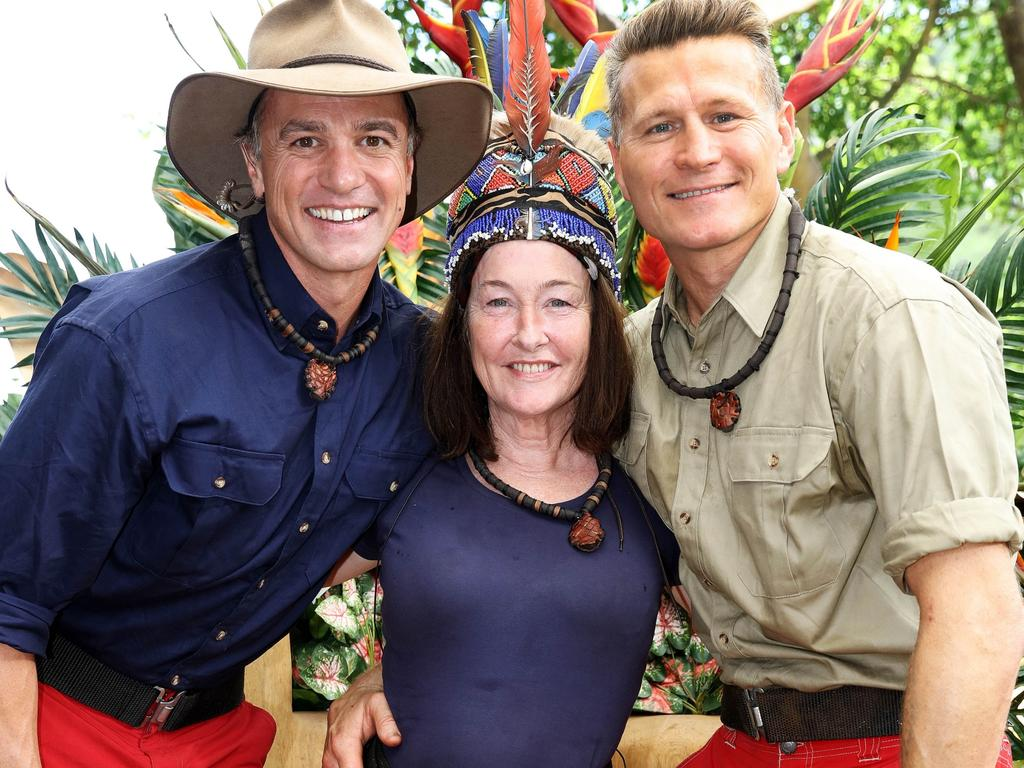 Fiona O'Loughlin with Shannon Noll and Danny Green.