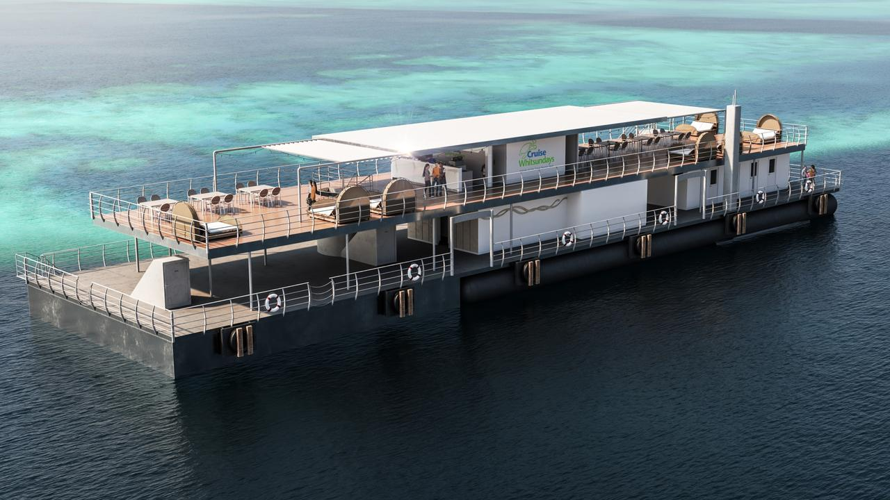 An overall view of the Reefworld pontoon