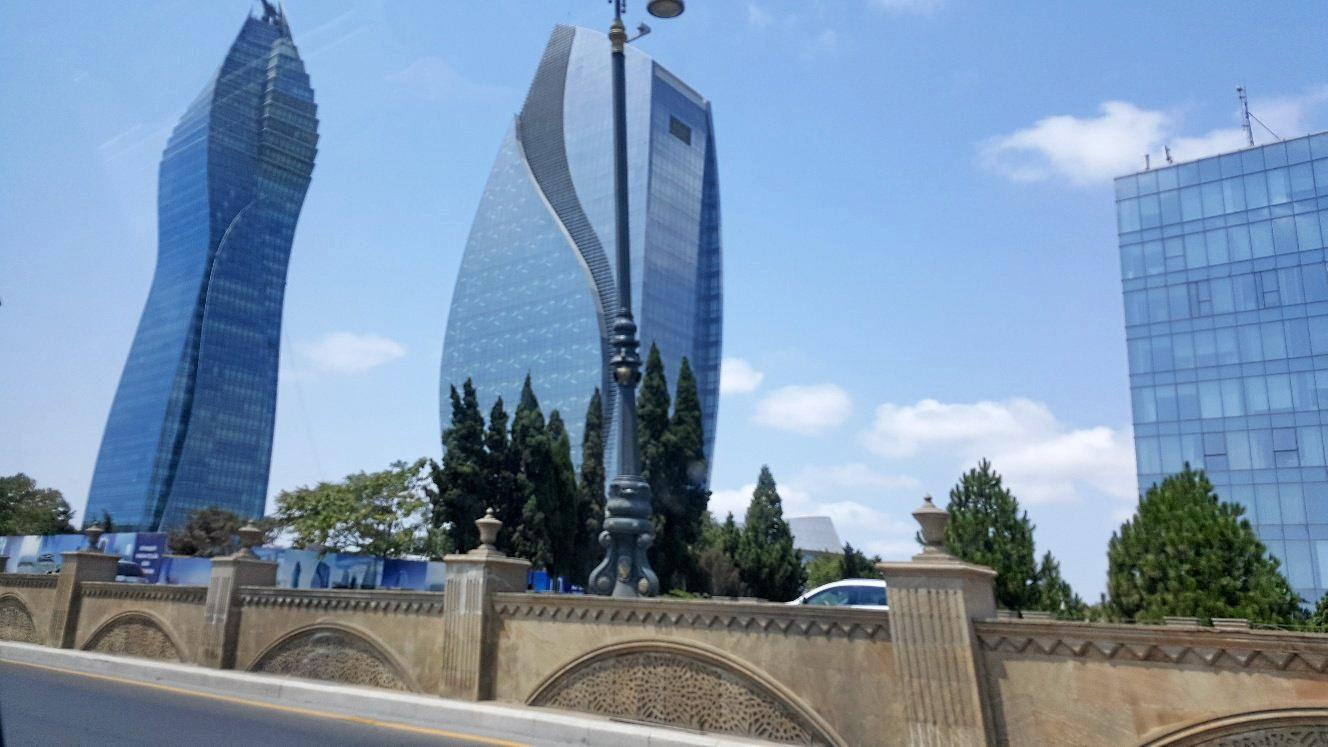 Baku, the capital of Azerbaijan.