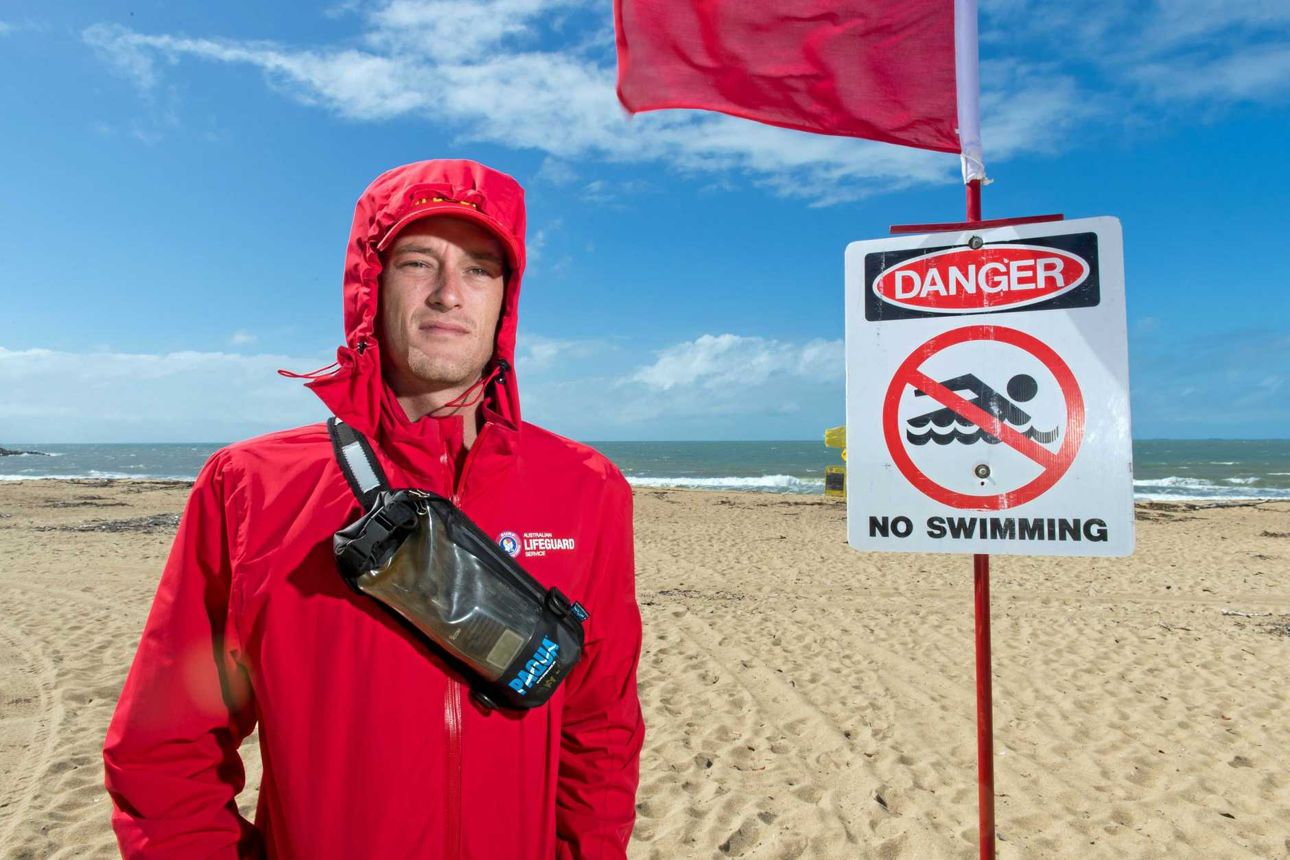 Mackay lifeguard Dyllan Kidman said he spotted a three metre crocodile laying on Harbour Beach in May.