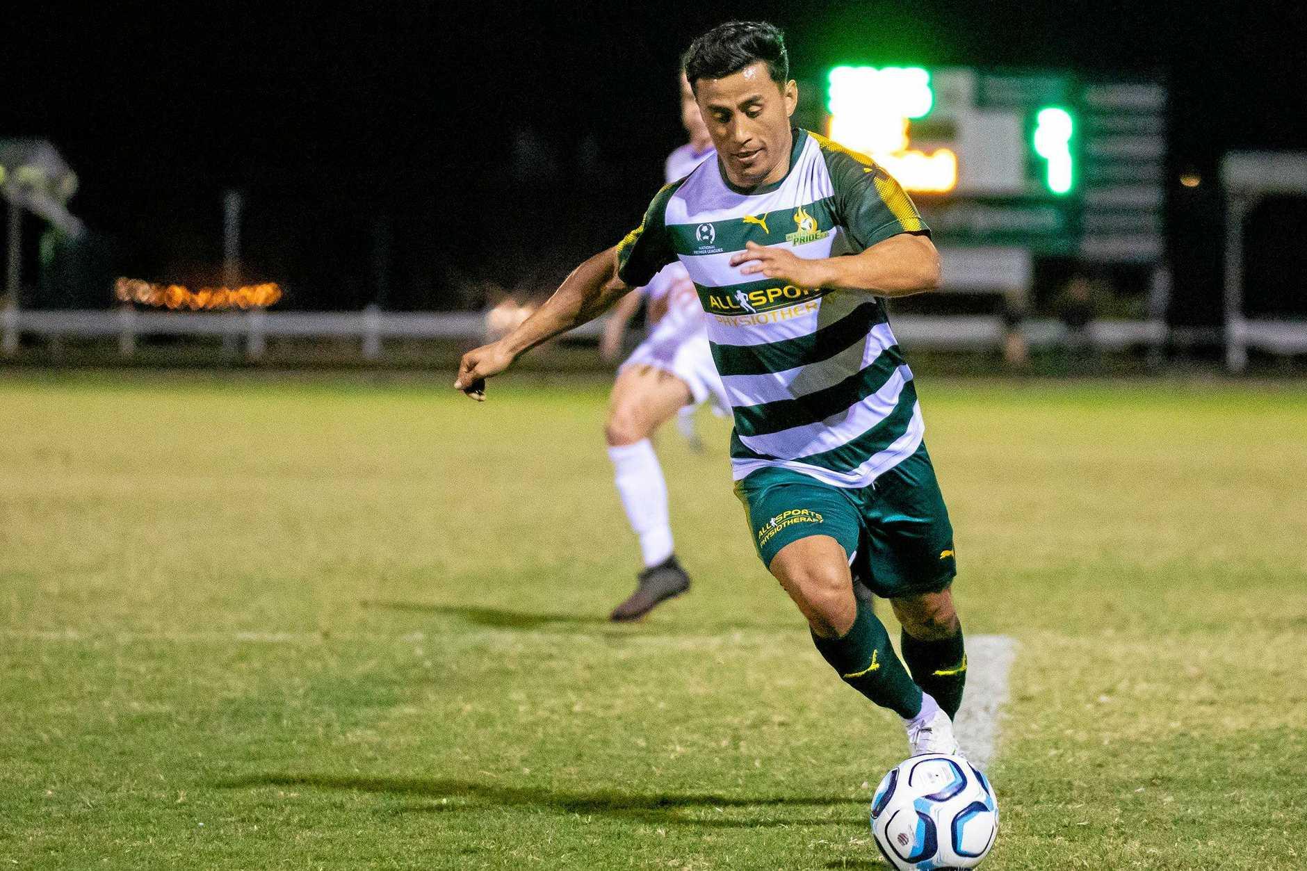 Western Pride midfield/striker Zelfy Nazary averages 11-12km a game on the field.