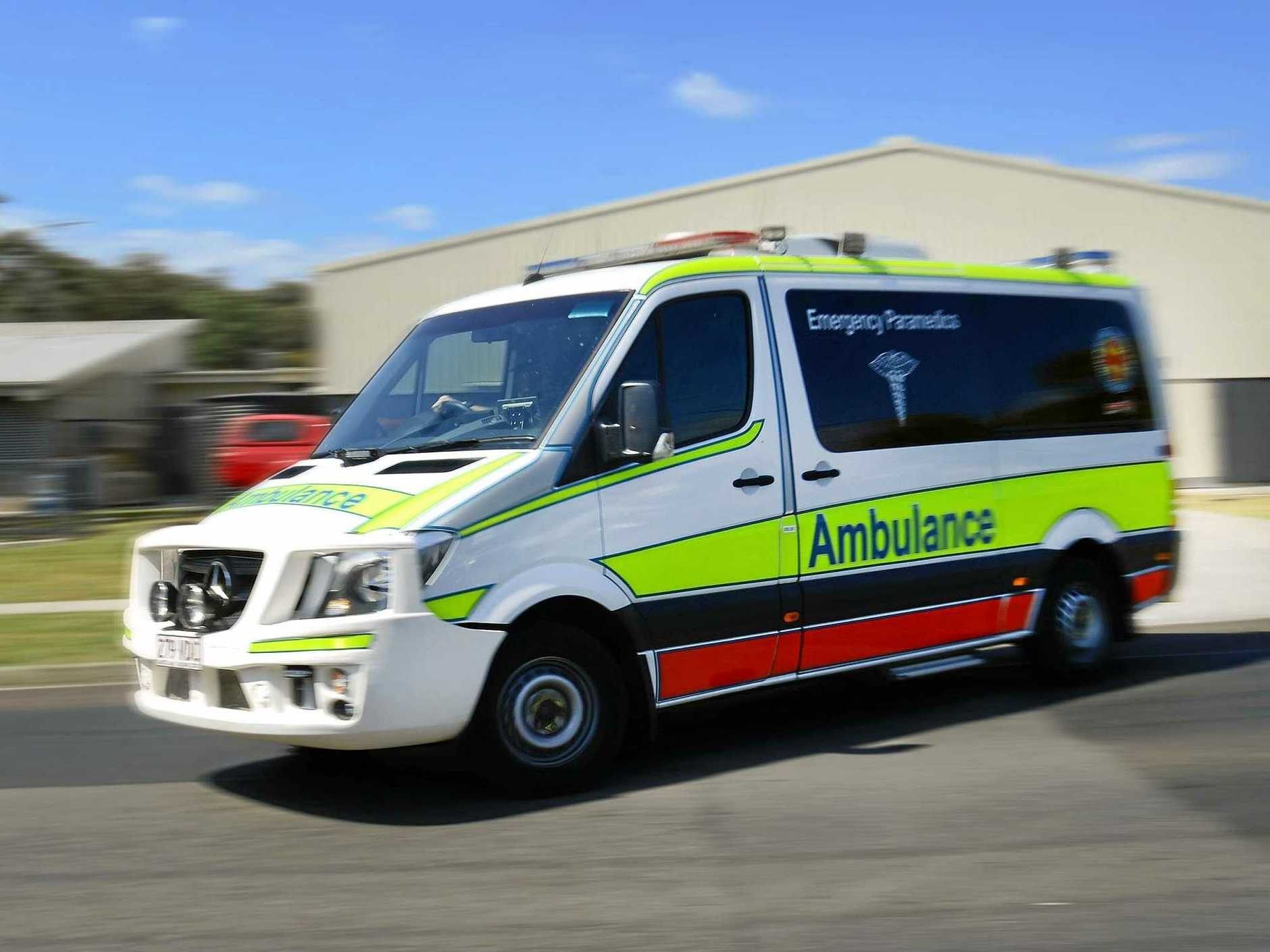 A man has died following a single-vehicle crash.