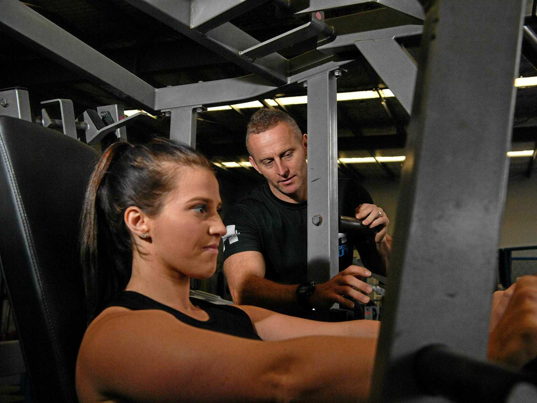 Saraa Spaens has fought back from adversity  with the help of personal trainer Scott Hipwell.