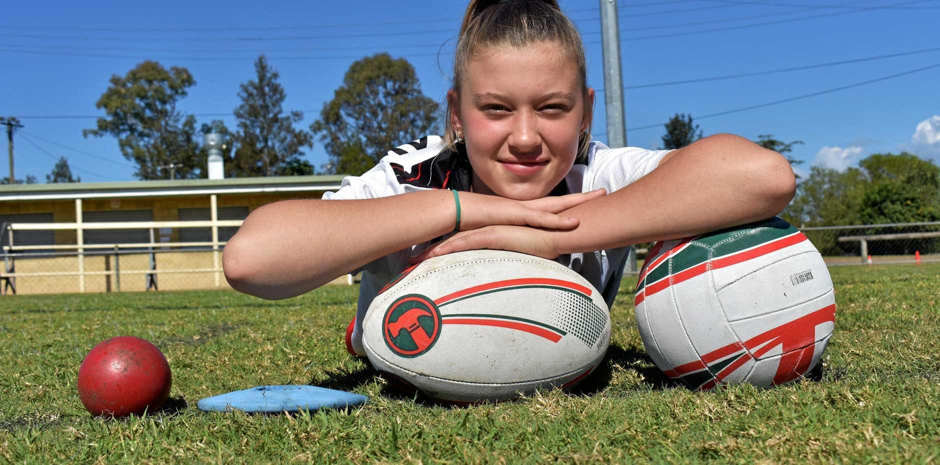 BIG DREAMS: Gympie athlete Makayla Elliott hopes to represent Australia  in any of her three sports.