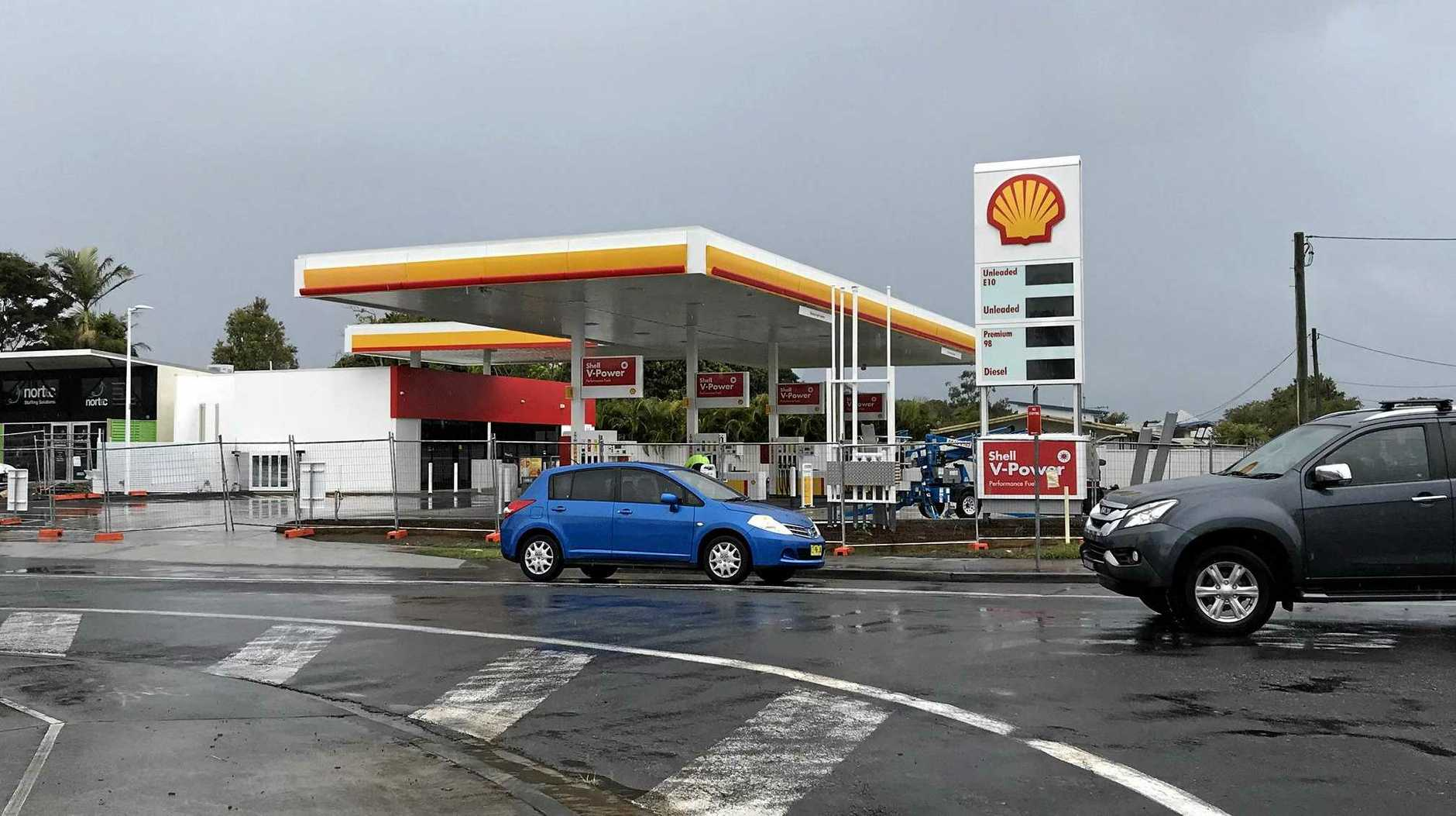 OPENING SOON: The new Shell service station on the corner of Yamba Rd and Treelands Dr, Yamba.