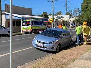 Traffic crash outside CQ high school