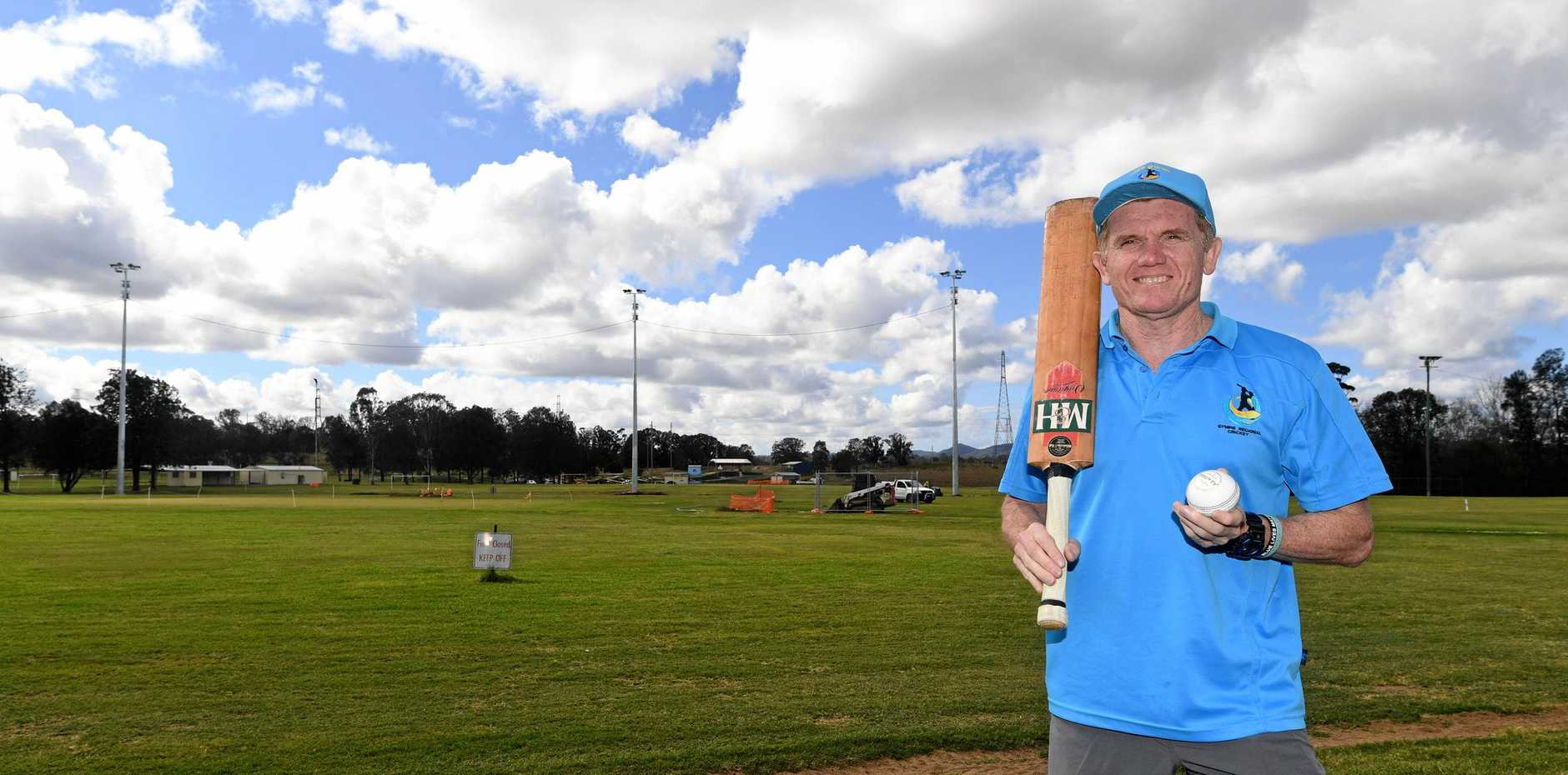 WELCOME CHANGE: Gympie Regional Cricket Association president Rod Venn is excited about the upgrades to One Mile ovals.