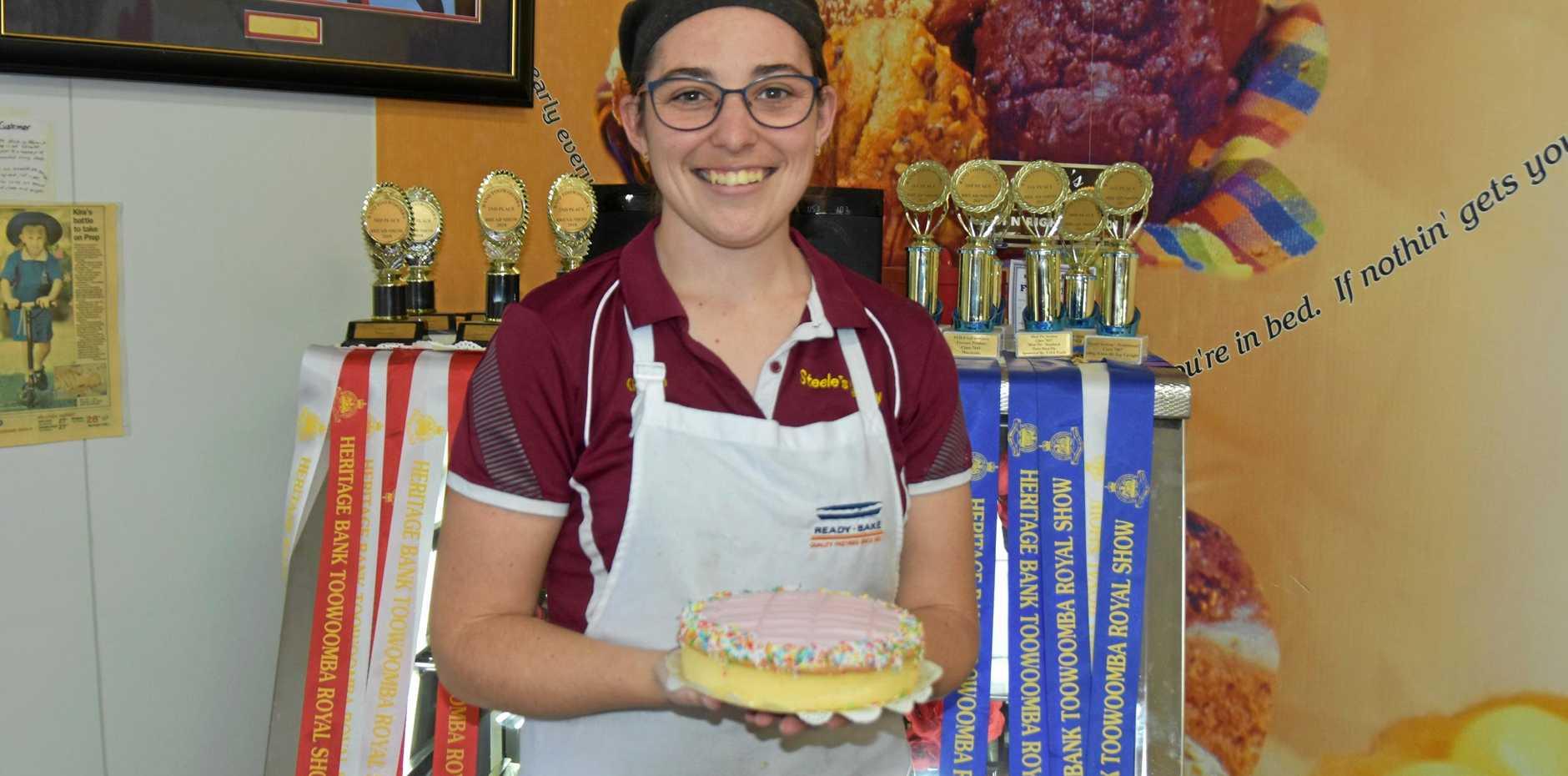 ICING ON TOP: Kirsten Eddiehausen's big honour as she's nominated top apprentice in Queensland.