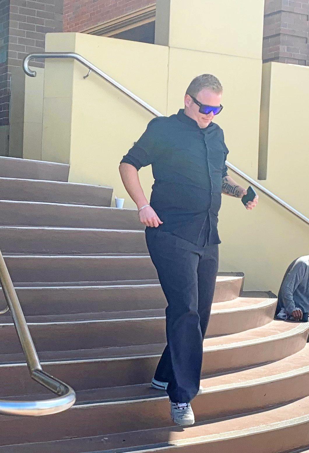Jayden Kenneth Arkley leaving Mackay District Court.