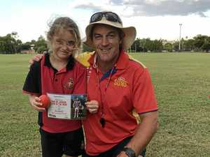 Future AFL players converge at Rocky Cluster Day event