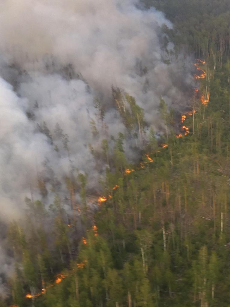 A forest fire burns in Russia's far east. Picture: AP
